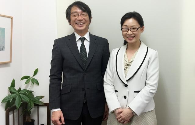 竹内代表と徳田カウンセラー